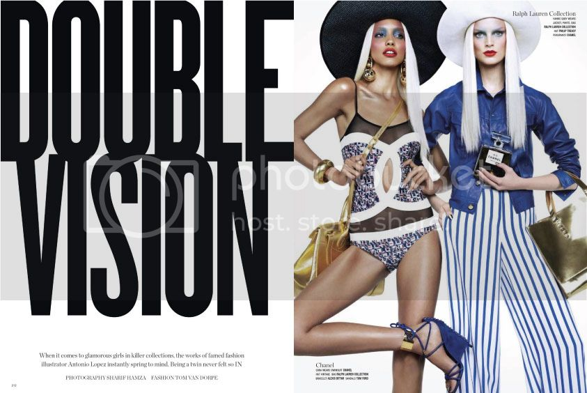 V Magazine #82 Spring 2013 - Double Vision 1 photo Double-Vision-1_zps50fb0e5f.jpg @ Street Stylista
